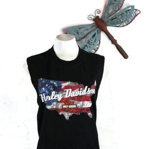 Harley-Davidson American Flag USA Sturgis Tank Top